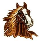 Applikationen Patch Pferd 7 x 8cm Farbe: Braun