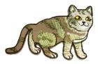 Applikationen Patch Katze 8,5 x 6cm