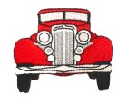 Applikation Patch Auto Cars 6,5 x 5,5cm Farbe: Rot
