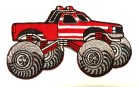 Applikation Patch Auto Cars Monstertruck 10 x 6cm Farbe: Rot