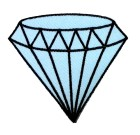 Applikation Patch Diamand 6,8 x 6cm Farbe: Hellblau