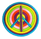 Applikation Patch Sticker Peace Durchmesser 7cm