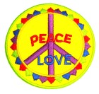 Applikation Patch Sticker Peace Durchmesser 7,5cm