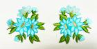 1 Paar Edelweiss-Applikationenen Wiesn Trachten 11,6 x 6cm Farbe: Türkis