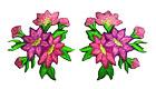 1 Paar Edelweiss-Applikationenen Wiesn Trachten 11,6 x 6cm Farbe: Magenta