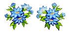 1 Paar Edelweiss-Applikationenen Wiesn Trachten 11,6 x 6cm Farbe: Blau