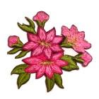 1 Paar Edelweiss-Applikationenen Wiesn Trachten 11,6 x 6cm Farbe: Pink
