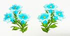 1 Paar Edelweiss-Applikationenen Wiesn Trachten 9 x 5cm Farbe: Türkis