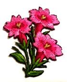 1 Paar Edelweiss-Applikationenen Wiesn Trachten 9 x 5cm Farbe: Pink