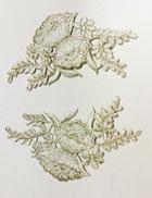 1 Paar Blumen-Applikationen 11,5 x 12cm Farbe: Lurex-Silber