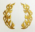 1 Paar Applikationen 11,5 x 10cm Farbe: Lurex-Gold