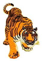 1 Applikation Patch Sticker Tiger 9,5 x 15cm