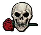 Applikationen Patch Sticker Halloween Totenkopf 8,1 x 7,4cm