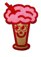 Applikationen Eisbecher 5 x 7cm Farbe: Rot-Pink-Hellbraun