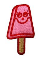 Applikationen Eis am Stiel 4 x 7cm Farbe: Rot-Pink-Hellbraun
