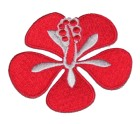 Applikation Patch Sticker Herbst Hibiskusblüte 7 x 5,5cm Farbe: Rot