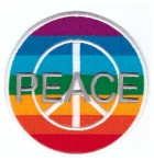 Applikation Patch Sticker Peace Durchmesser 7,8cm