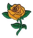 1 Applikationen Rose 6,5 x 7cm Farbe: Gold