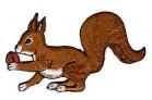 Applikationen Patch Eichhörnchen Eichkater 10,3 x 5,6cm Farbe: Braun