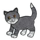 Applikationen Patch Katze 7,8 x 8cm Farbe: Dunkelgrau