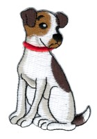 Applikation Patch Sticker Hund Terrier 5,5 x 8cm