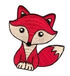 Applikationen Patch Fuchs 7,5 x 8cm Farbe: Rot-Beige