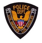 Aufnäher Bügelbild Applikation TopGun Police Dep. Los Angeles  11,5 x 12,5cm