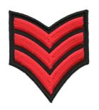 Applikation Patch Schulterstück Army 6,8x8cm Farbe: Rot