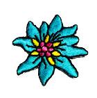 Edelweiss-Applikationen Wiesn Trachten 3,5cm Farbe: Blau