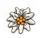 1 Stück Edelweiss-Applikationen Wiesn Trachten Durchmesser 2,5cm