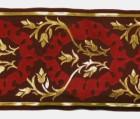 1m Mittelalter Borte Webband 100mm breit Farbe: Bordeaux-Gold