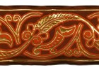 1m Mittelalter Borte Webband 100mm breit Farbe: Orange-Gold
