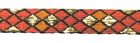 10m Borte Webband 10mm breit Burlington Farbe: Terracotta-Lurexgold