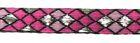 10m Borte Webband 10mm breit Burlington Farbe: Pink-Lurexsilber