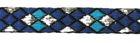 10m Borte Webband 10mm breit Burlington Farbe: Blau-Lurexsilber