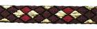 10m Borte Webband 10mm breit Burlington Farbe: Bordeaux-Lurexgold