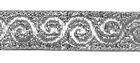 10m Brokat Borte Webband 12mm breit Farbe: Lurex-Silber