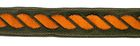 10m Kordel-Borte Webband 14mm breit Farbe: Braun-Orange