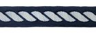 10m Kordel-Borte Webband 14mm breit Farbe: Dunkelblau-Weiss
