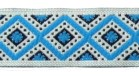 10m Webband Retro-Borte 15mm breit Farbe: Blau-Weiss