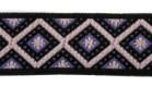 10m Webband Retro-Borte 15mm breit Farbe: Violett-Schwarz