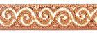 10m Jacquard Borte Webband Stoff 16mm breit Farbe: Lurex-Kupfer