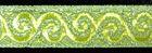 10m Brokat Borte Webband 16mm breit Farbe: Lurex-Neongrün