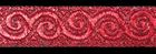 10m Brokat Borte Webband 16mm breit Farbe: Lurex-Rot