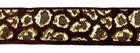 10m Borte Webband Muster Leopard 16mm breit Farbe: Braun-Gold