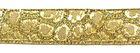 10m Borte Webband Muster Leopard 16mm breit Farbe: Lurex-Gold