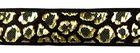 10m Borte Webband Muster Leopard 16mm breit Farbe: Schwarz-Gold