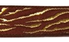 10m Borte Webband Muster Zebra 16mm breit Farbe: Bordeaux-Gold