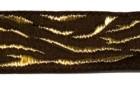10m Borte Webband Muster Zebra 16mm breit Farbe: Braun-Gold