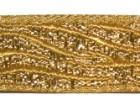 10m Borte Webband Muster Zebra 16mm breit Farbe: Lurex-Gold